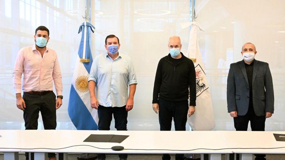 Rodríguez Larreta y Guillermo Montenegro firmaron convenio de cooperación